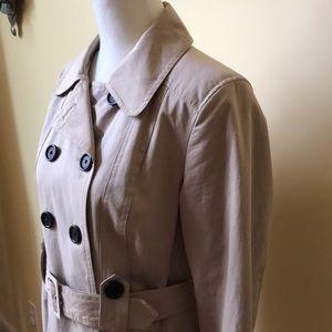 LOFT Jackets & Coats - LOFT Double Breasted Khaki Short Trench Coat